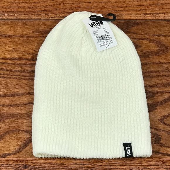 a9a66357b Vans Mismoedig Beanie Hat Marshmallow White NWT